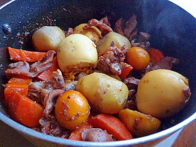 里芋と卵とキンカンごろごろ鶏モツ煮