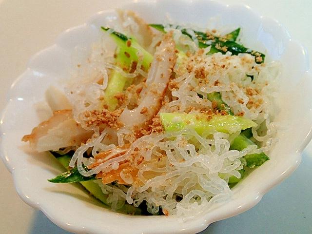 海藻麺と胡瓜と竹輪の塩麹マヨ和え レシピ・作り方 by ぷ〜みぃまま♪|楽天レシピ