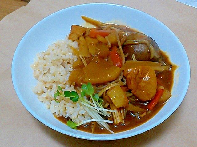 肉じゃがの残りで時短!簡単!根菜和風カレー