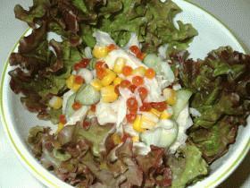 いくらと野菜のサラダ