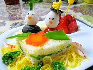 ひな祭りに♪牛乳パックでケーキ寿司