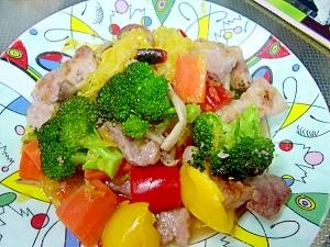 フライパンひとつ☆豚ロースと彩り野菜のマリネ