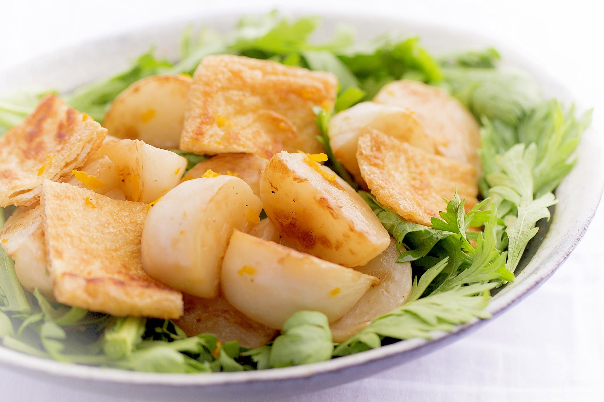 【潔癖家族の主菜Vol.10】カブと油揚げのサラダ