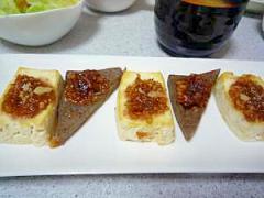 豆腐とこんにゃくの田楽