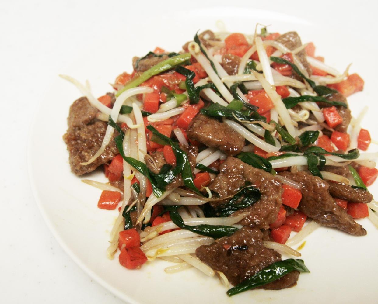 豚レバーと野菜の旨炒め