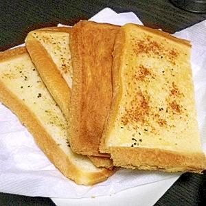 強食感!食パンでできるガリガリガーリックトースト