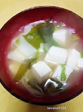 菊芋の味噌汁☆素麺入り♪