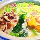 野菜たんまり★まろやかクリーム鍋