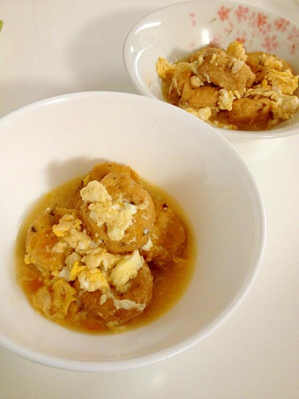 ふわふわ卵とがんもどきの煮物