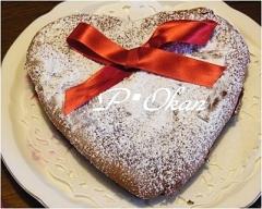 バレンタインに❤簡単ハートチョコチーズケーキ