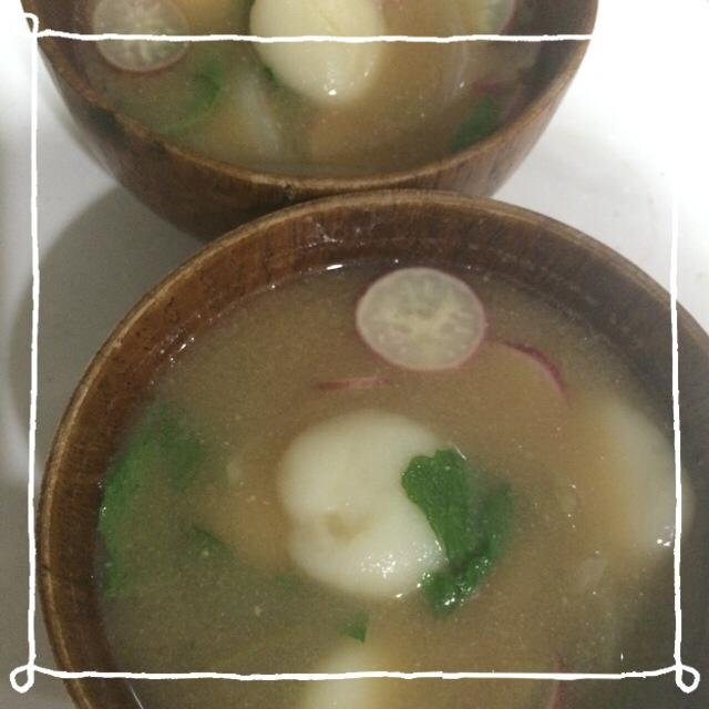 ラディッシュ味噌汁´Д