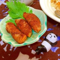 筍と焼き味噌大葉の豚肉巻き