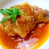 骨つき鶏モモ肉の赤ワイン煮