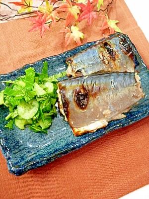 鯖の塩麹漬け焼き