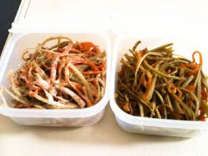 2品同時に料理!きんぴらごぼう&ごぼうサラダ