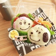 ● スヌーピー&フィフィのハンバーガーのキャラ弁★