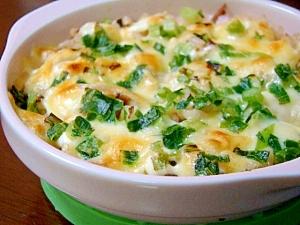 炊き込みご飯の翌日はマヨチーズで簡単ドリア風♪