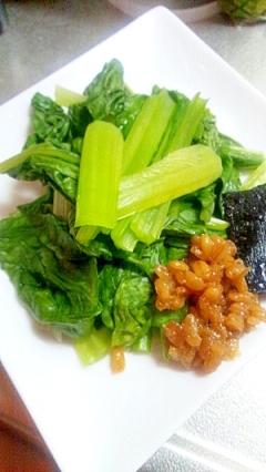 レンジで簡単 小松菜を温野菜に