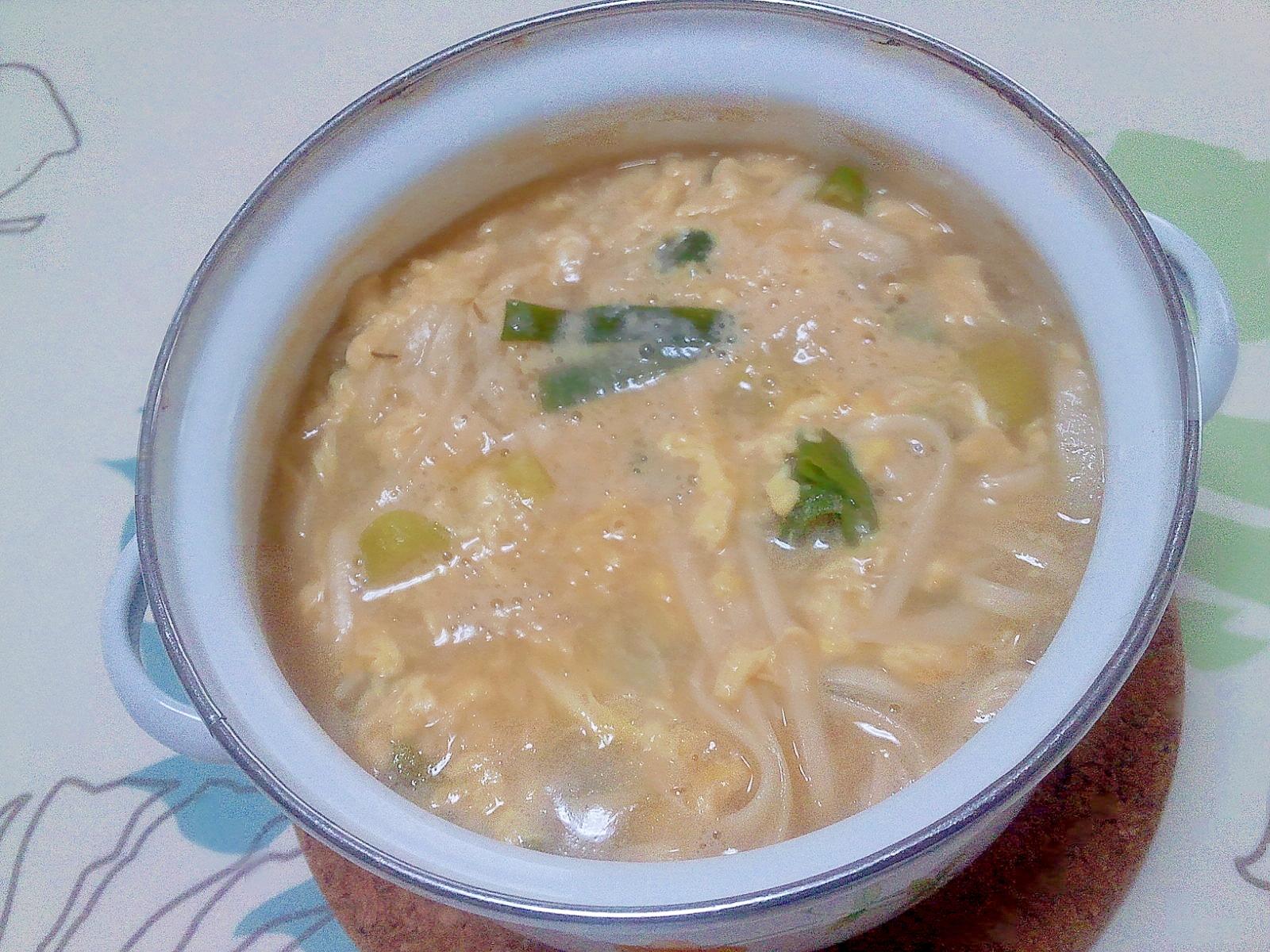 風邪や冷え性に!生姜入り粕味噌うどん++