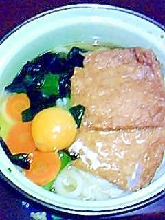 冷凍野菜と冷凍うどんのきつねうどん