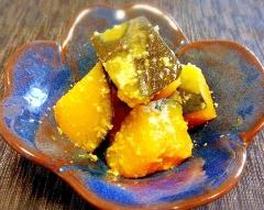 ホッとする味♪ かぼちゃ塩麹煮☆