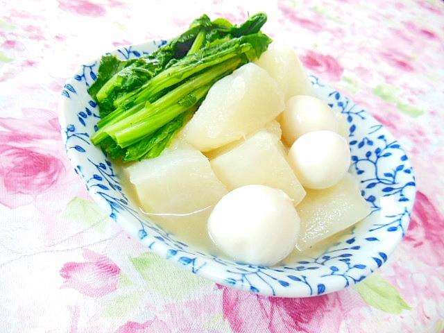 白だし生姜de蕪とうずらの卵の炊いたん