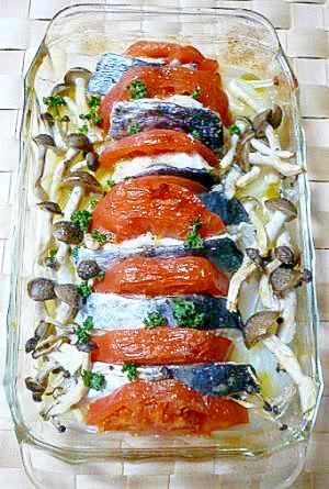 さわらとトマトと新玉ねぎのイタリア風♪