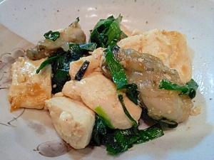 カキと豆腐の中華炒め