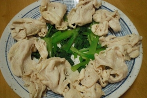 簡単! 「鶏ムネ肉のシャブシャブ&小松菜」  ♪♪