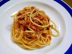 秋野菜たっぷり♪根菜ミートスパゲティ