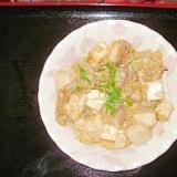 ピリ辛肉豆腐の玉子とじ