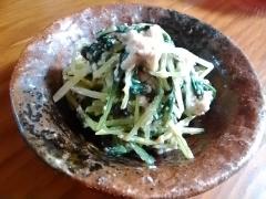 ★水菜と豆腐のめんつゆ胡麻和え★
