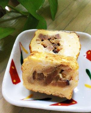 焼き豚玉子焼き←お弁当の主菜です。