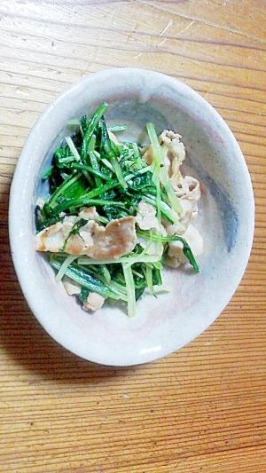 水菜の生姜炒め