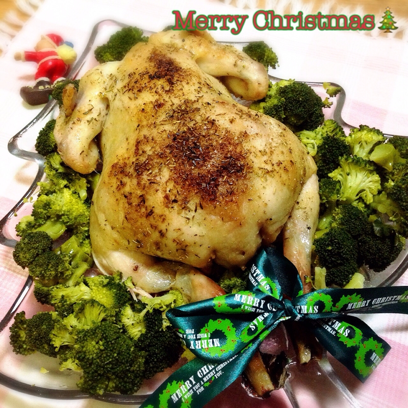 Merry Xmas☆丸鶏deローストチキン♪