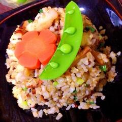 筍と葉葱のズボラで旨い!生七味炒飯