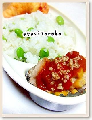 魚焼きグリルで鶏コーンラタトゥイユ