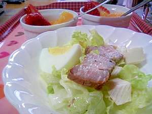 ベーコンレタスのモーニングサラダ