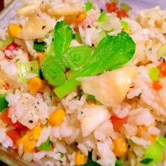 夏バテに負けない!長芋と日向夏のライスサラダ