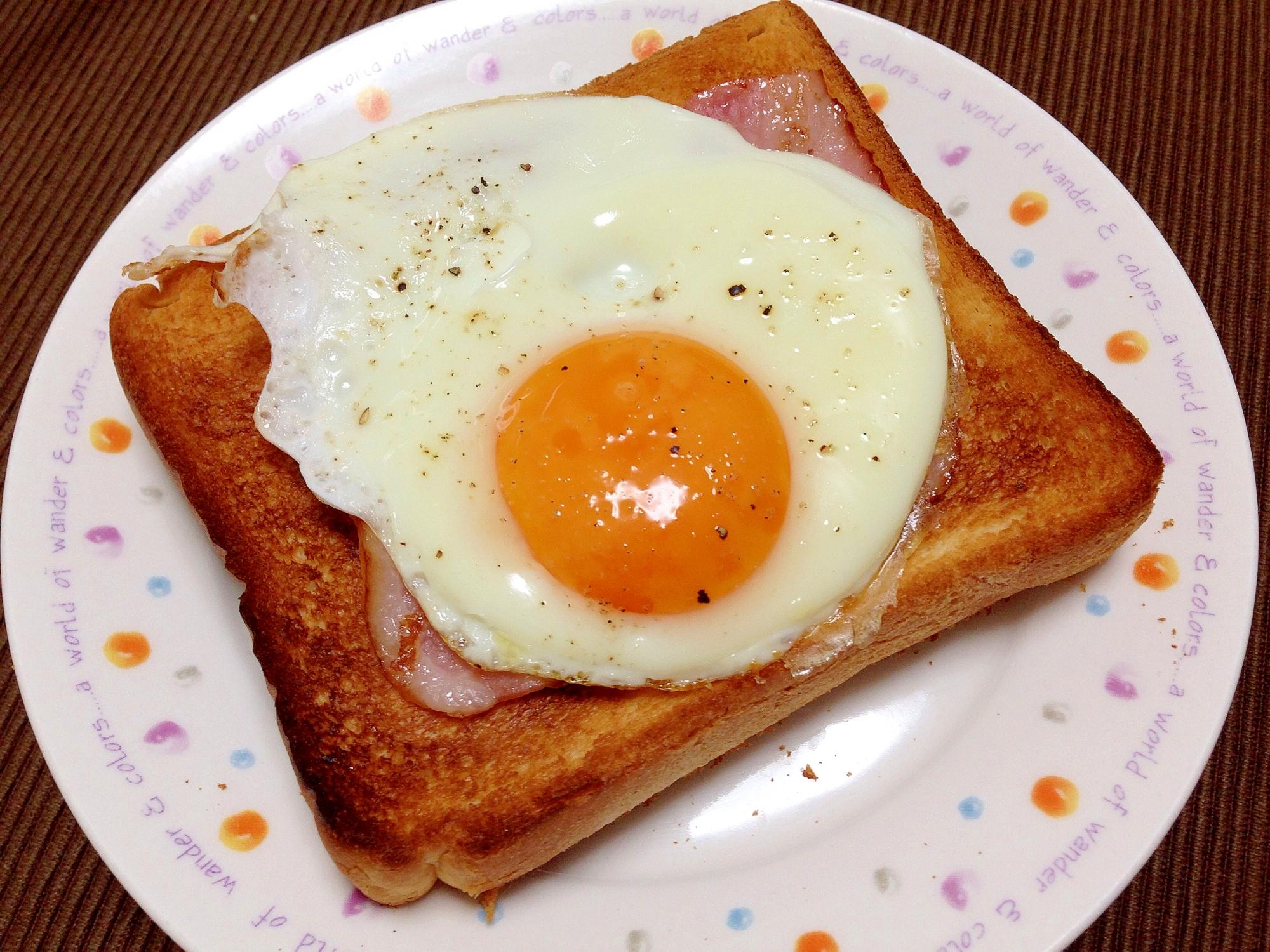 朝食に☆ベーコンエッグトースト