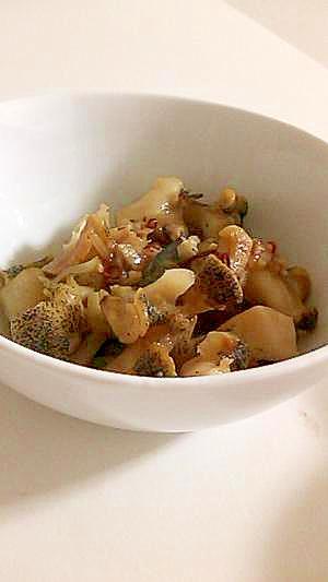 ツブ貝の和風ガーリック炒め