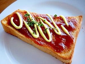 BBQソース&マヨネーズのトースト**