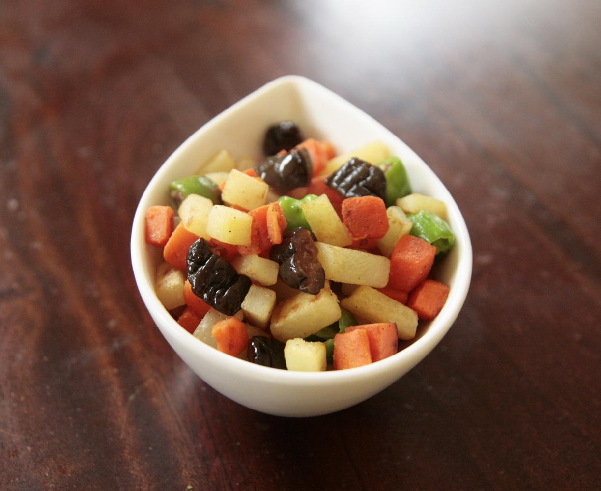 かわいい~キューちゃんとお野菜のコロコロ炒め