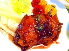 おフランス風 鶏もも肉のソテー ぶとうソース和え