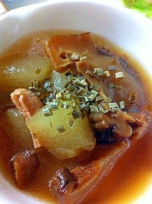冬瓜とどんこの含め煮スープ