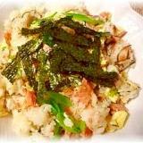 鮭と卵のヘルシー混ぜ寿司