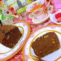 胡桃とフルーツのティーショコラパウンドケーキ