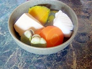 旬菜料理☆そら豆とイカと高野豆腐の炊合せ