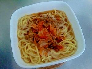 納豆キムチで!アレンジ中華麺++