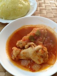 アフリカ風鶏肉の煮込み